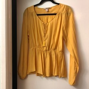 Forever 21 yellow blouse XS